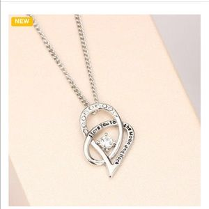 Love you to the Moon & Back Necklace-CZ